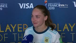 Estefania Banini – Player of the Match – Argentina v Japan