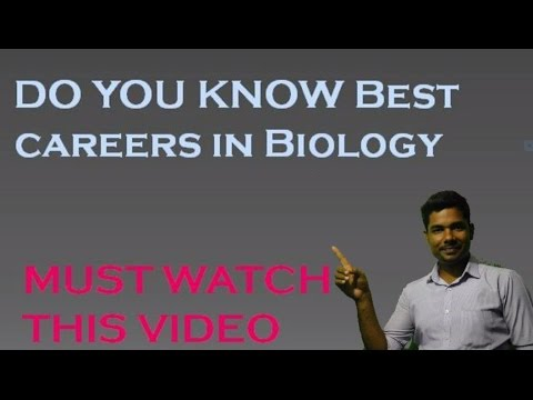 Best Career options or Scope in biology field [hindi].