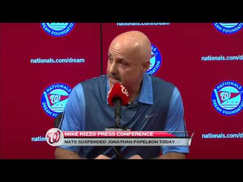 Mike Rizzo Discusses Jonathan Papelbon's Suspension