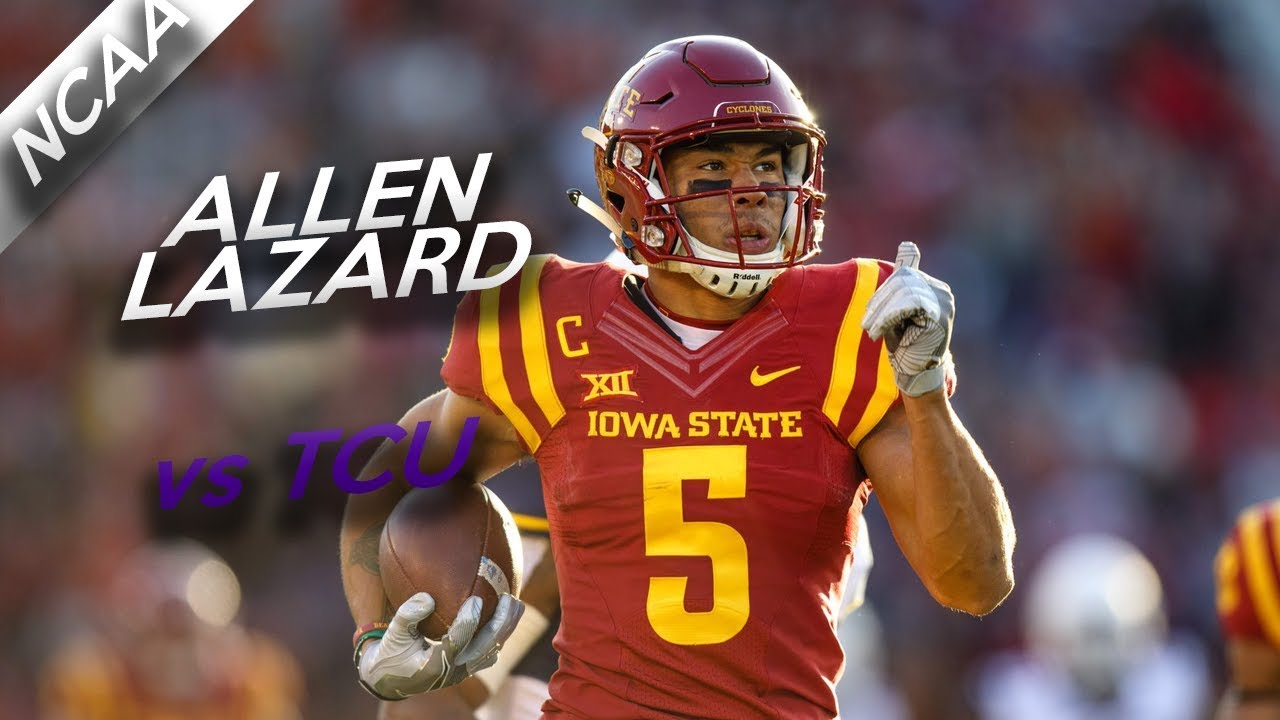 Allen Lazard Highlights Vs Tcu 6 Catches For 106 Yards 10 28 17 Youtube
