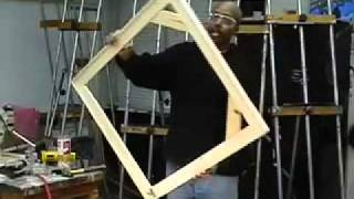 How To Build A Fine Art Canvas Stretcher For Gallery Painting Display Part 7 Of 8