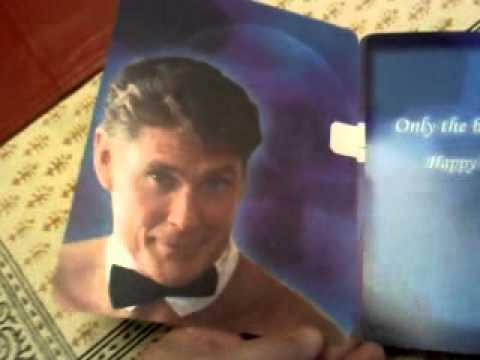 David Hasselhoff Birthday Card Youtube