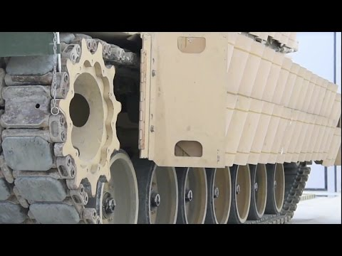 US Army - M1A2 SEP V2 Main Battle Tank Installation Of Reactive Armour Package [1080p]