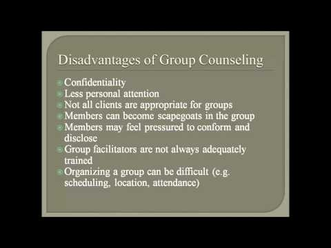 Advantages and Disadvantages of Group Counseling and Co-facilitation