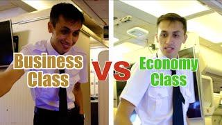 Business Class VS Ecoฑomy Class