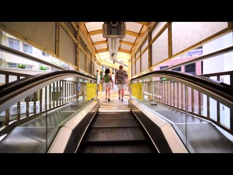 Central–Mid Levels escalator and walkway system in Hong Kong
