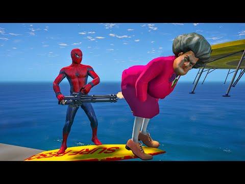 Scary Teacher 3D - Spiderman vs Miss'T Full story of Pranks - Game Animation |