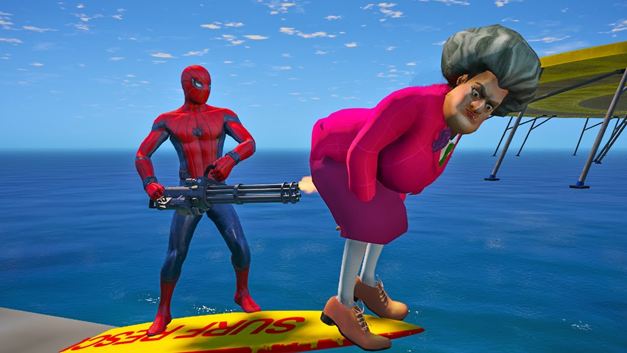 Download Scary Teacher 3D - Spiderman vs Miss'T Full story of Pranks - Game Animation
