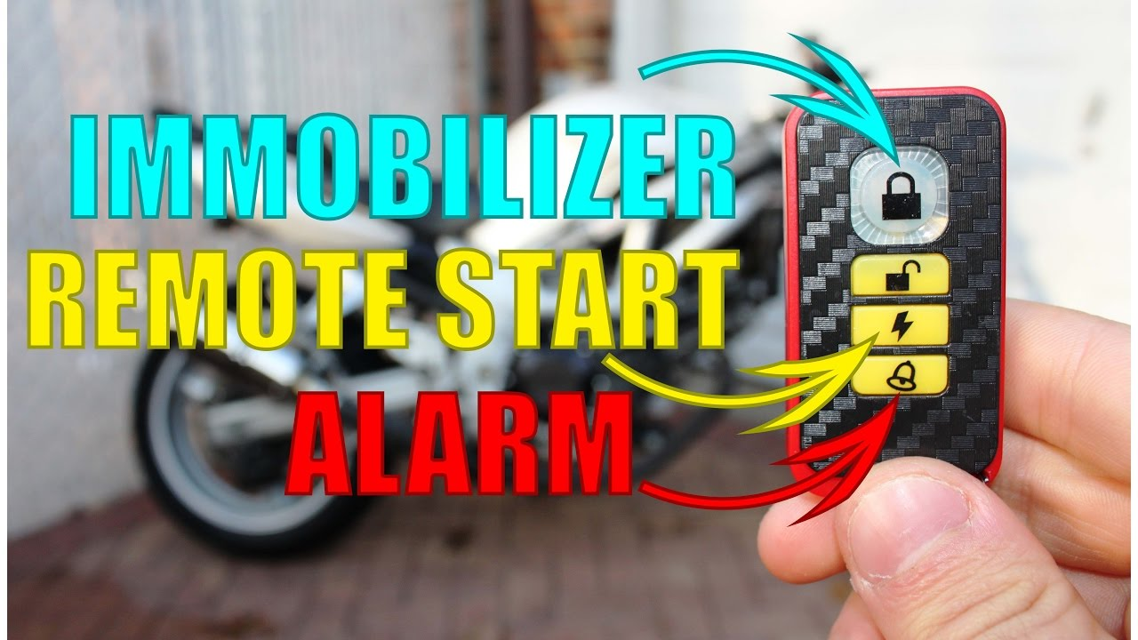 how to install a motorcycle alarm remote starter immobilizer complete guide [ 1280 x 720 Pixel ]