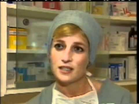 Princess Diana watches a heart operation