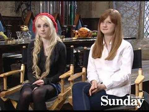 Evanna Lynch and Bonnie Wright  Ootp dvd Launch