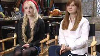Evanna Lynch and Bonnie Wright - Ootp dvd Launch