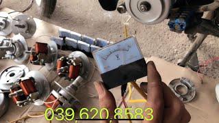 Hướng dẫn lắp củ phát điện 220v vào mâm lửa xe máy