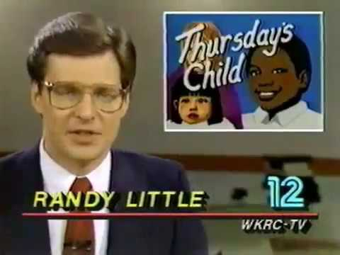 WKRC 1985 - Girl who needed an adoption and Q102 studios - C