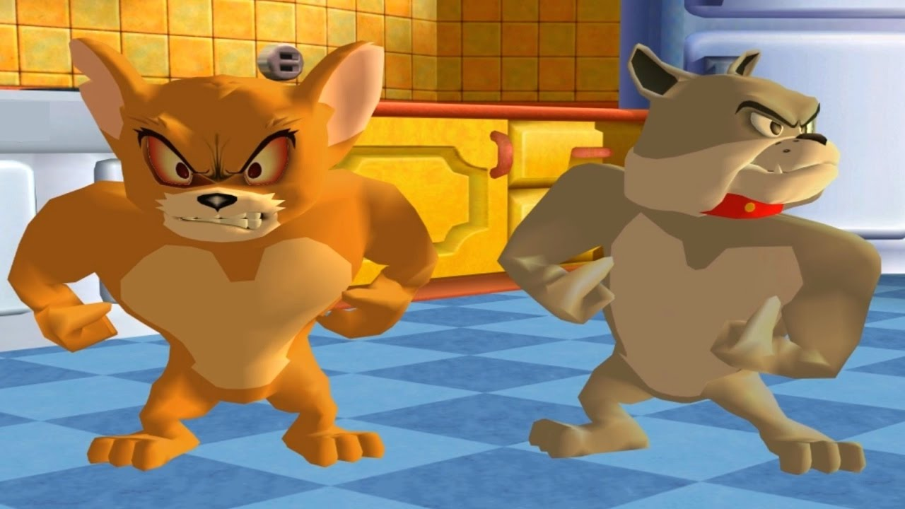 Tom and Jerry Video Game for Kids - Monster Jerry and Spike vs Tom and Butch - Best Funny Games