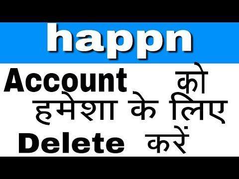 happn account delete