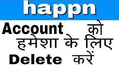How To Deactivate Happn Account