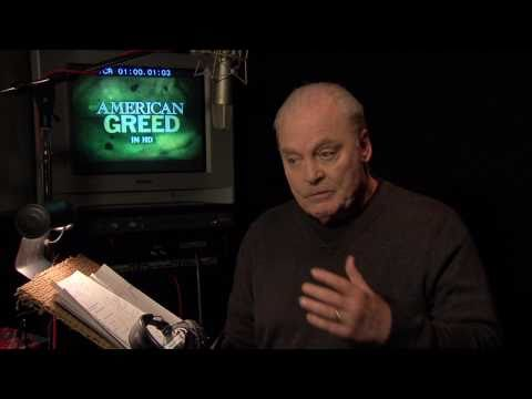"In the recording booth with CNBC's ""American Greed"" Narrator Stacy Keach - 1/19/11"