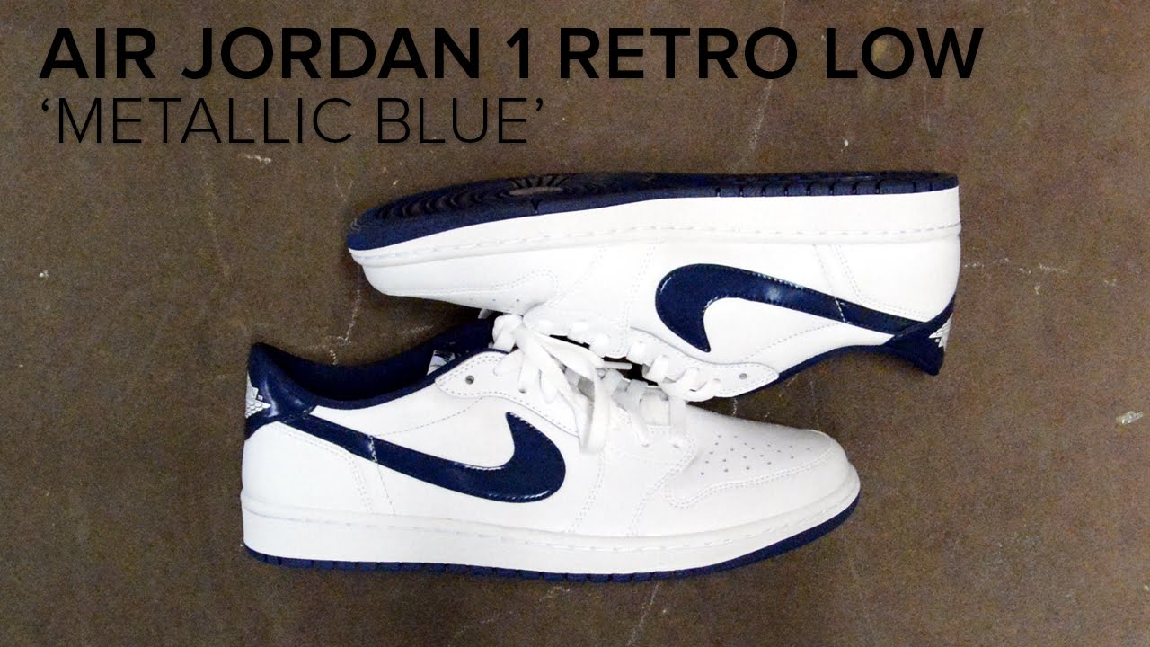 quality design 3c78c 20e5f Air Jordan 1 Retro Low  Metallic Blue  Quick On Feet Review