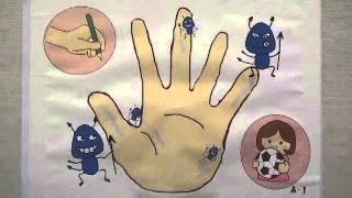 「楽しいごはんのための3つの約束」食中毒予防ペープサート(「つけない」ver.)