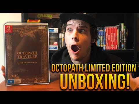 Octopath Traveler COLLECTORS EDITION Unboxing!
