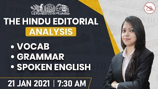 The Hindu Editorial Analysis | 21 Jan 2021 | By Sraya Mahendras | Bank, SSC, UPSC | 7:30 AM