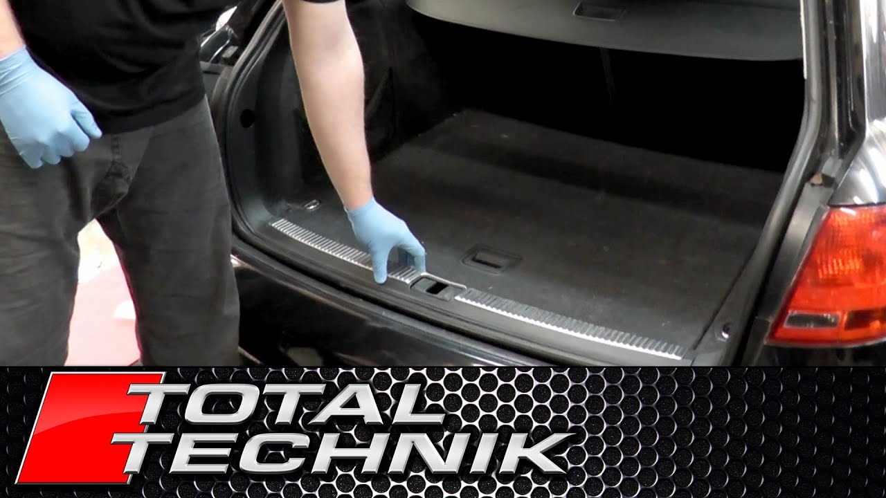 How To Remove Boot Lock Carrier Cover Trim Audi A4 S4