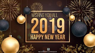 Happy New Year 2019 2020 Wallpaper Card Poster Design in Photoshop Photoshop Tutorial