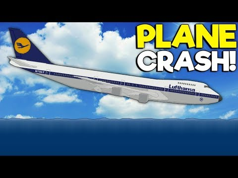 747 PLANE CRASHES INTO THE OCEAN! - Sinking Simulator 2 Gameplay