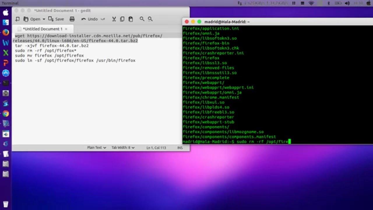 How To Install / upgrade Mozilla Firefox 44 0 On Linux Ubuntu 15 04