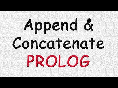 Append And Concatenate In Prolog