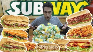 PEDIMOS O MENU INTEIRO DO SUBWAY