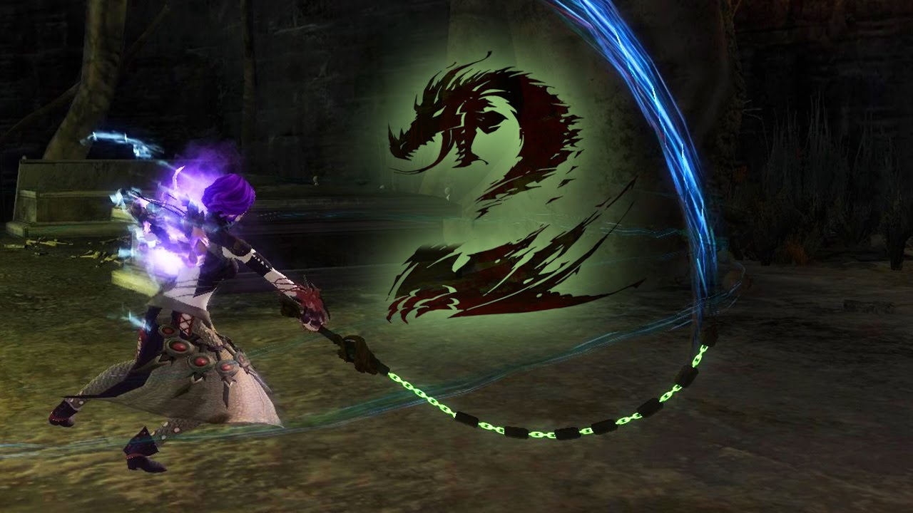 Need For Speed Girl Wallpaper Guild Wars 2 Chain Whip Sword Slow Motion Youtube