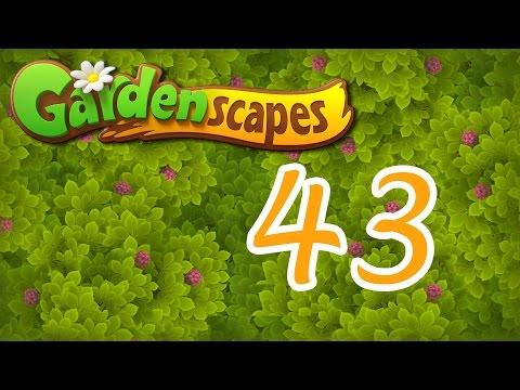 Gardenscapes level 43 Walkthrough