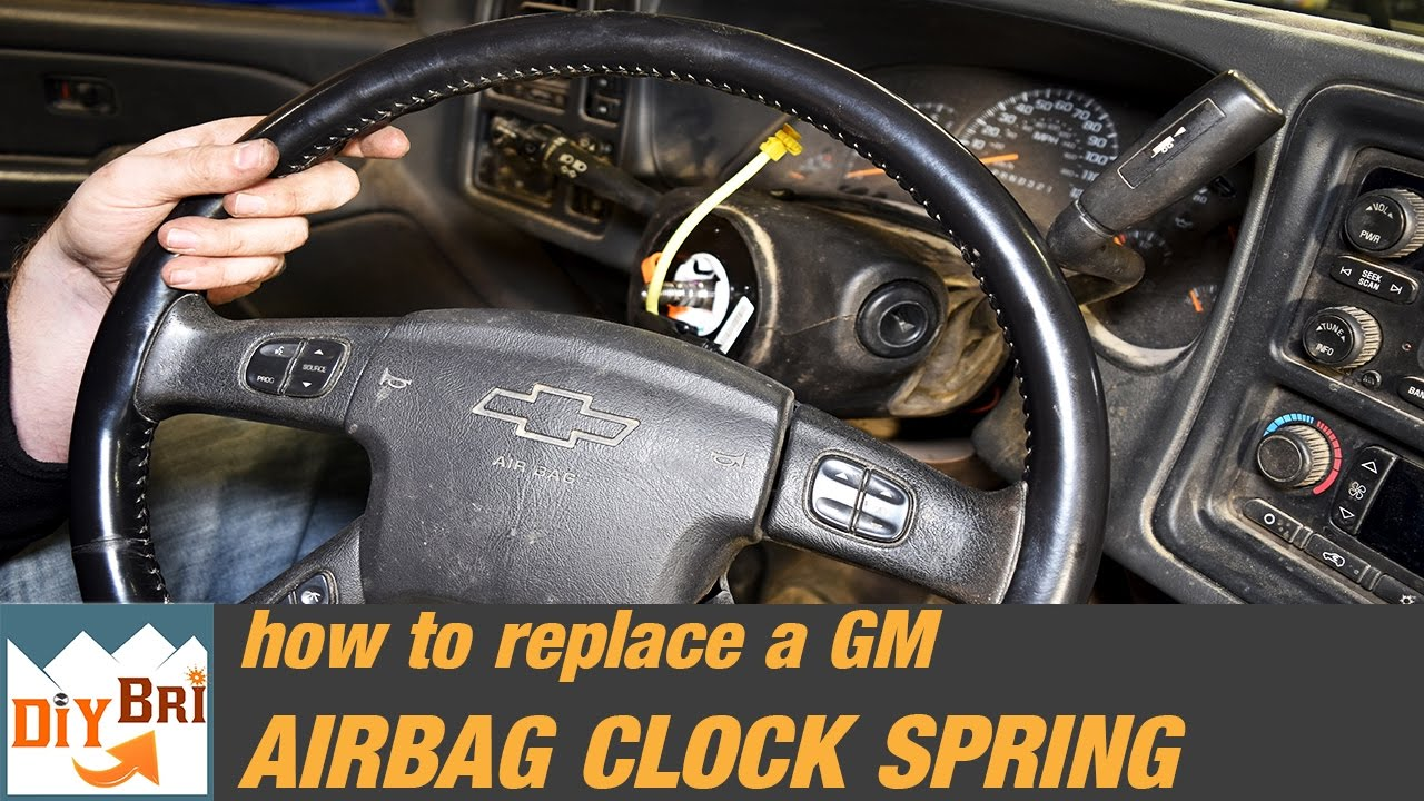 maxresdefault how to replace a clock spring & remove steering wheel silverado  at aneh.co