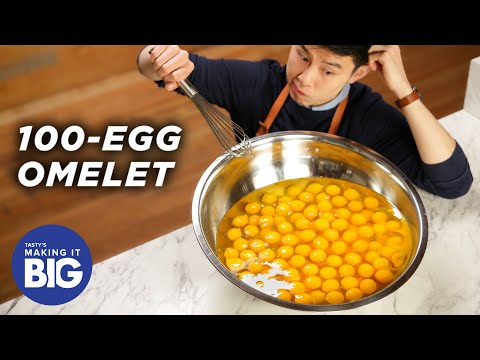 I Made A Giant 100-Egg Omelet • Tasty
