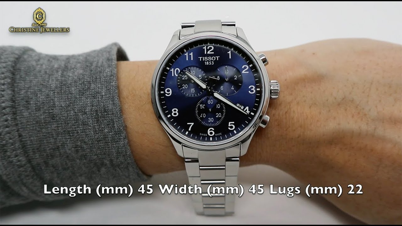 622c8590f56 UNBOXING TISSOT 45MM CHRONO XL CLASSIC BLUE DIAL T1166171104701 ...
