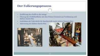 Rüstzeit-Optimierung innerhalb der Folierung für Kunststofffensterprofile