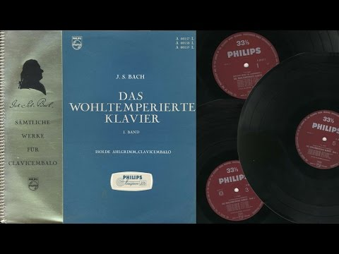 Isolde Ahlgrimm (pedal harpsichord) Das Wohltemperierte Klavier I Band J.S. Bach