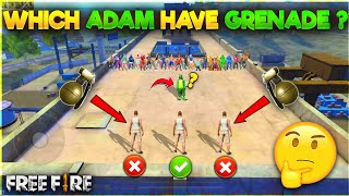 Which Adam Have Grenade ? Free Fire Funny Game On Factory Roof-Garena Free Fire