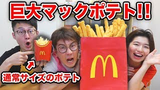 【大量】超巨大マックポテトつくってみたら再現度高すぎた!!How To Make Giant McDonald's potato