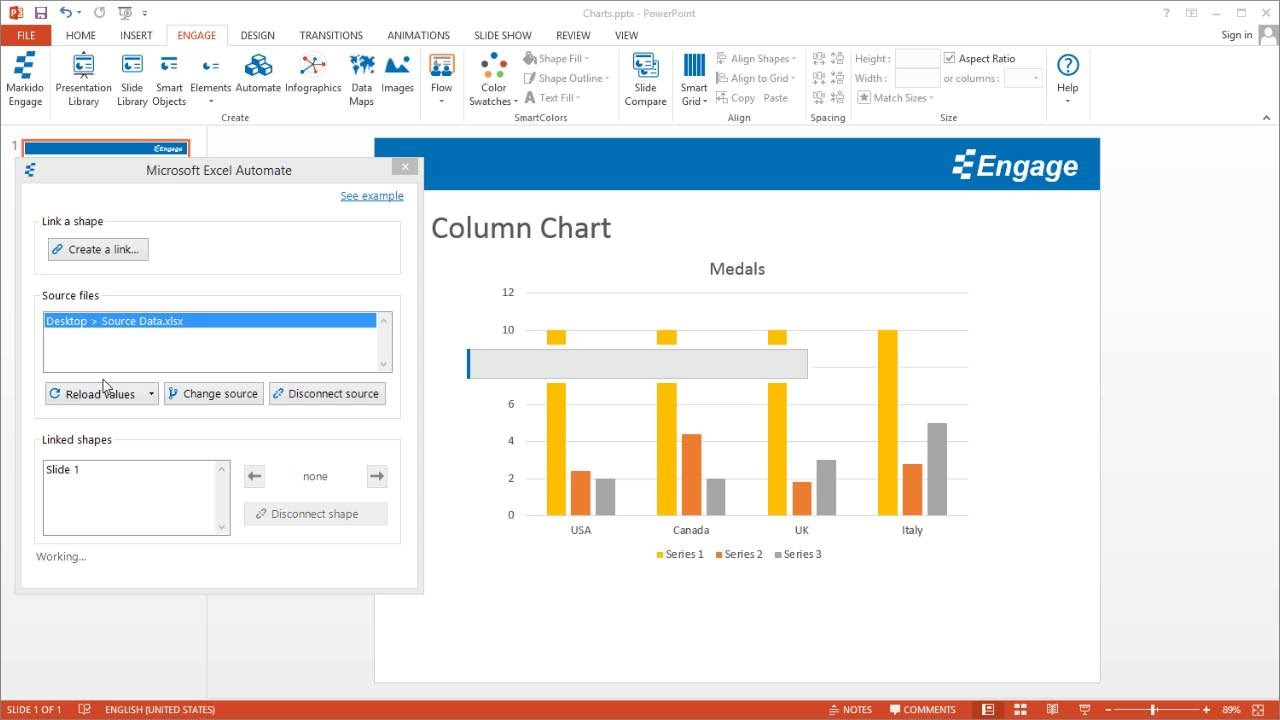 How to link and automate charts in powerpoint via excel using engage how to link and automate charts in powerpoint via excel using engage ccuart Gallery