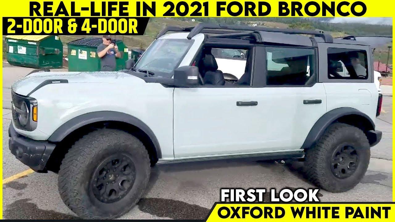 2021 Ford Bronco 2-Door And 4-Door Model Full Interior ...