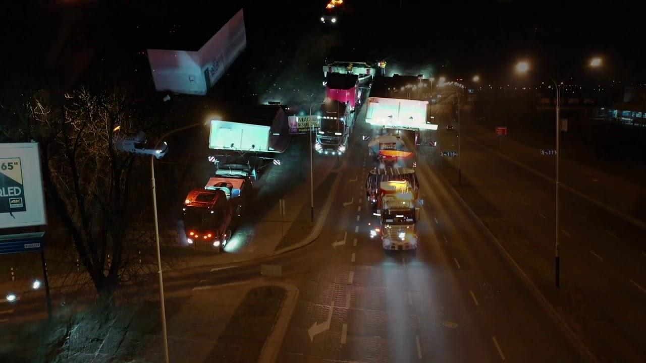Łódź: Transport pierwszej tarczy do drążenia tuneli kolejowych zakończony
