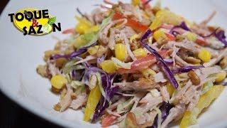 Te quedó Pavo? Prepara ésta deliciosa ensalada Fácil y práctica (Toque y Sazón)