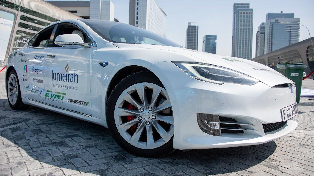 هل تستطيع السفر بسيارة كهربائية؟ ابوظبي الى عمان Tesla 100D