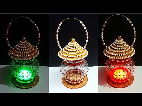 How to make Lantern/Lamp/Tealight Holder from Plastic Bottle|DIY Lamp/Lantern using recycle material
