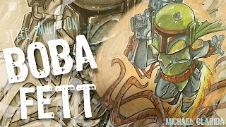 How to draw Star Wars character: Boba Fett