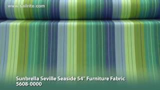 Sunbrella Seville Seaside Furniture Fabric 5608-0000