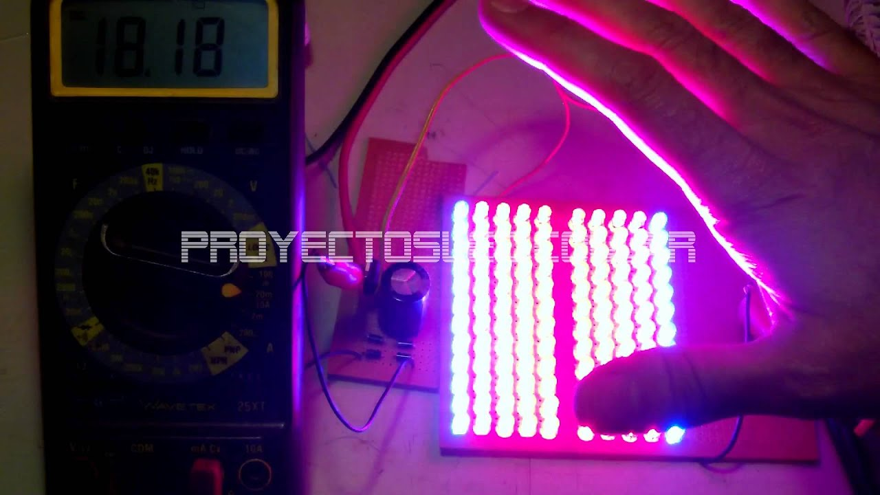 Proyectosled 18 lampara led 220v de cultivo casera for Cultivo interior casero